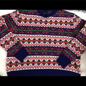 Ladies knit multicolored sweater by J-Crew